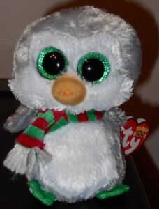 "Ty Beanie Boos ~ CHILLY the Holiday Penguin 6"" (Claire's Exclusive) NEW MWMT"