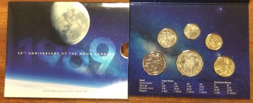 50th anniversary of Moon landing 2019 RAM Uncirculated 6 Coin Mint Set UNC