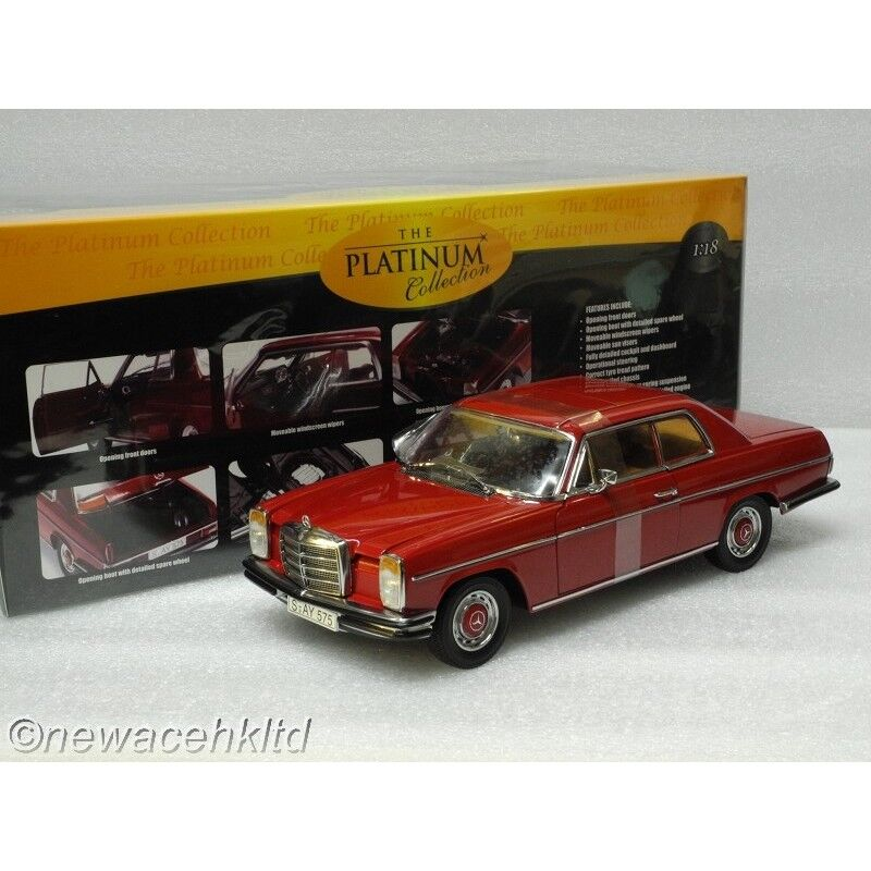 1973  MERCEDES BENZ STRICH 8 COUPE rouge STAR MODEL 1 18  4575  garanti