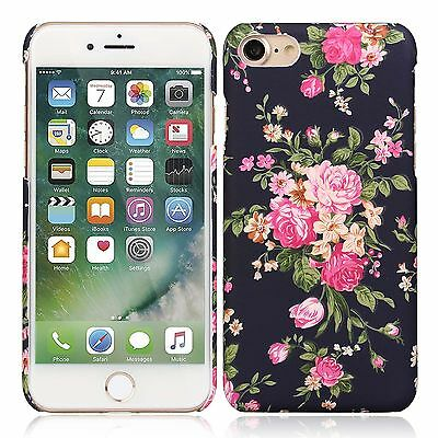 Luminous Rubberized Retro Floral Soft Case Cover For iPhone 7 7Plus 6 6S Plus