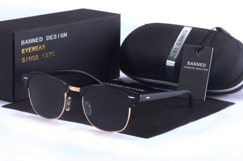 Retro Polarized Sunglasses Semi Rimless Vintage Fashion Mirrored Eyewear UV400
