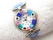 • Murano Glass Venice • Wristwatch Handmade Crystal - Seiko Quartz - New Battery
