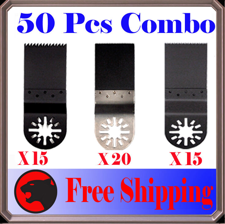 50 Pc Oscillating MultiTool Saw For Blade Fein Multimaster Dremel Bosch Makitia