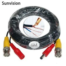 """Sunvision x2 66ft OD:3.0mm /""""Power Video/"""" 2-in-1 CCTV Camera Extension Cables"""
