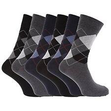 24 pairs designer job lot men`s cotton Lycra COLOR Argyle Design 6-11 socks