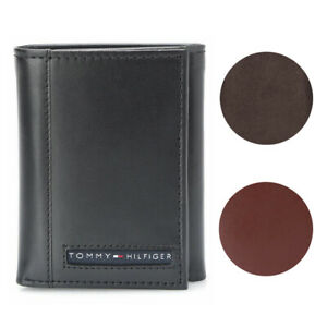 Tommy-Hilfiger-Men-039-s-31TL11X033-Leather-Credit-Card-ID-Trifold-Wallet