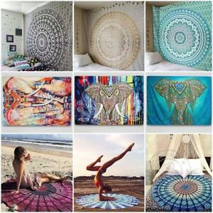 Indian Bohemian Mandala Tapestry Beach Hippie Throw Yoga Mat Towel Bedspread