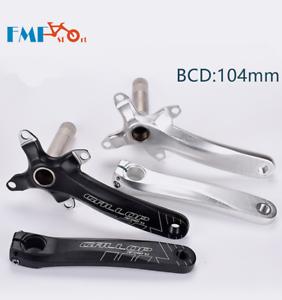Mountain Bike CNC light weight crank arm MTB bicycle crankset 104 BCD 170mm
