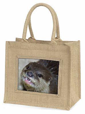 Frecher Otters Gesicht Große Natürliche Jute-einkaufstasche Weihnachten,AO-1BLN
