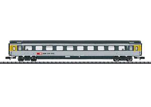 Minitrix-T-15652-Personenwagen-1-Kl-SBB-ex-Cisalpino-Grossraumwagen