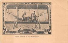 LOUIS MITCHELL IN HIS HYDROPLANE AVIATION POSTCARD (c. 1910)