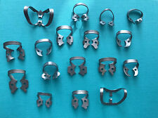 Hu Friedy Satin Steel Rubber Dam Clamp Set 17pcs And Case