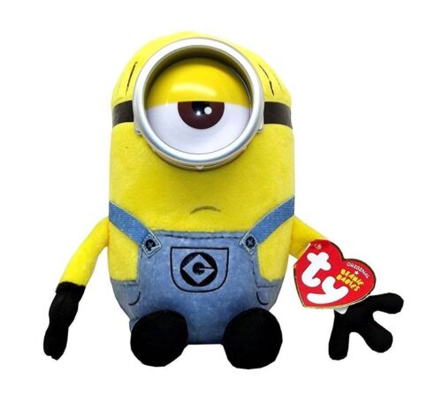 "MEL TY 6/"" Beanie Baby Plush Stuffed Animal Despicable Me 3 Denim Overalls"