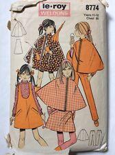 Le-Roy Weldons Vintage 60s Long or Short PVC Cape Coat & Dress Pattern - Bust 30