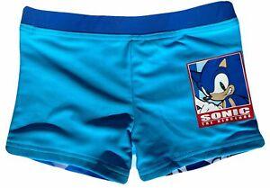 SONIC HEDGEHOG Badehose Jungen E1891 Badeshorts blau Gr.98 104 116 128 Neu