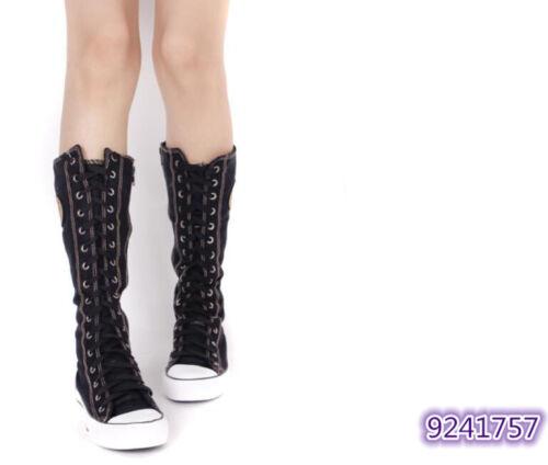 Damen 2019  High Top Stiefel Punk Rock sneakers Schwarz Beige Stiefel