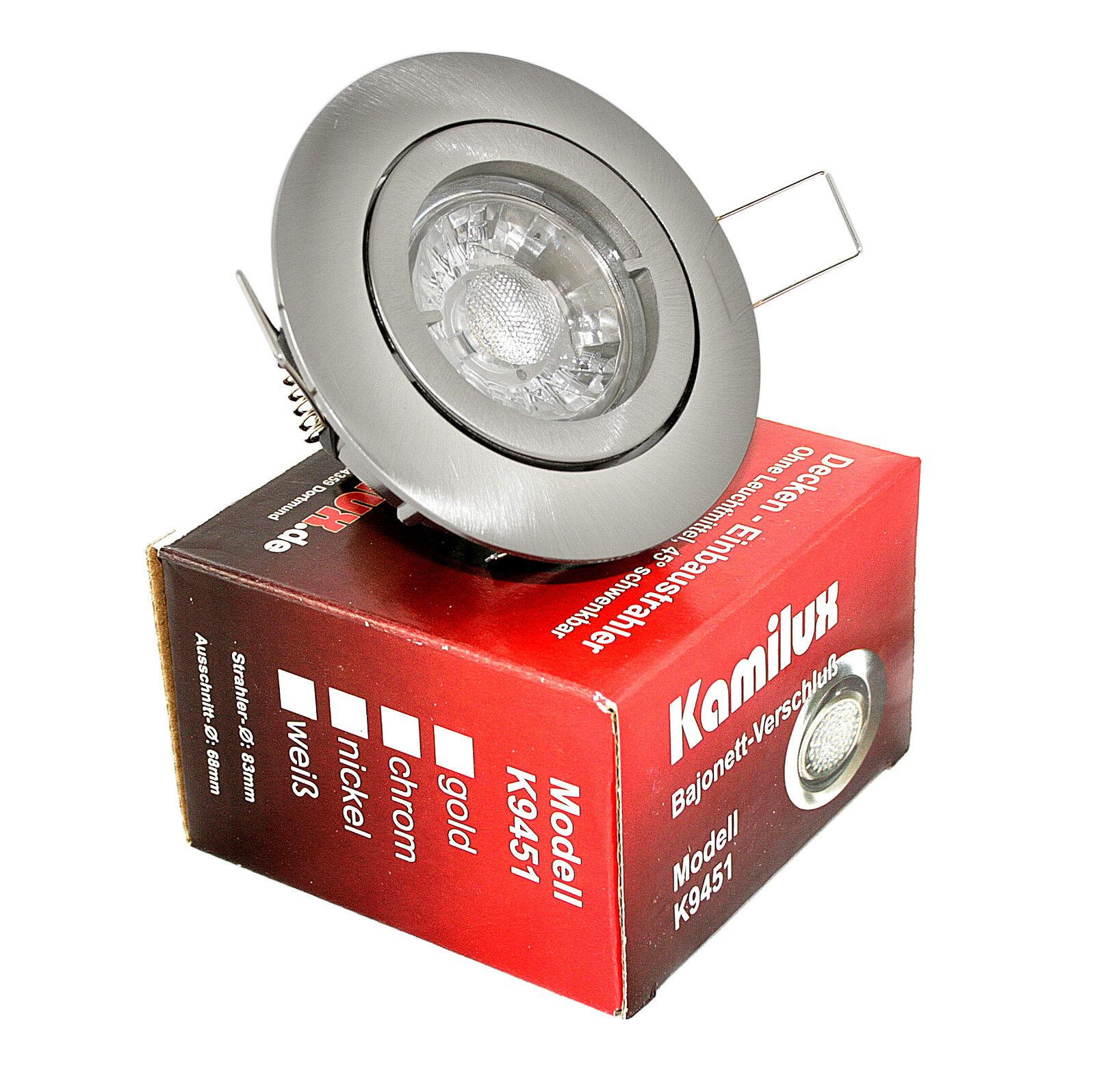 230V LED 7W = 52W Bad Spots Einbaustrahler Bajo rostfrei inkl. Leuchtmittel GU10