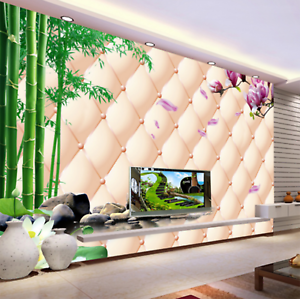 3D Bamboo Lotus 648 Wallpaper Murals Wall Print Wallpaper Mural AJ WALL UK Kyra