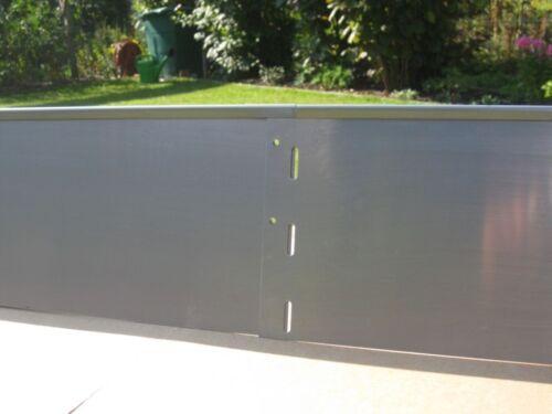 Rasenkante Extreme 1 mm starkes Metall Alu-Zink L 100 cm x H 18 cm 1 Stück