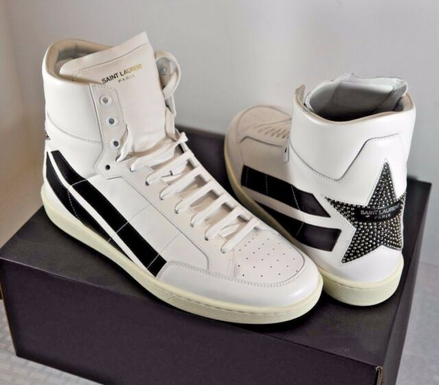 0ee20a1fa0852 NIB Saint Laurent Signature Court Classic SL 36H Stripe Star Sneakers 10 43   895