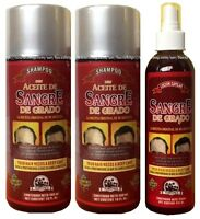 2 Shampoo & 1 Lotion Blood Of The Dragon Sangre De Grado Regrow Strengthen Hair