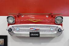 1957 Chevrolet Bel-Air Painted Resin Wall Decor w Glass Shelf & Lights: 7580-83