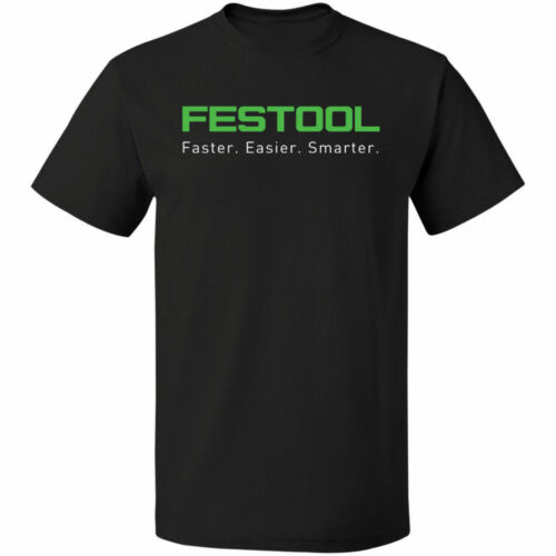 Festool power tool Germany logo black white tshirt men/'s free shipping