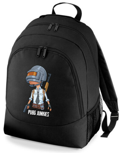 Player Unknown Battlefield PUBG Junkies Soldier Gaming Rucksack Backpack Scho...