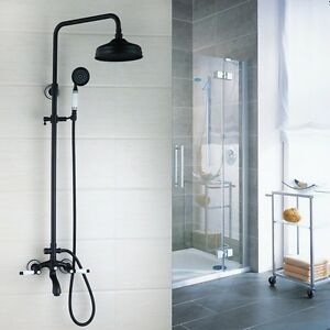 Image Is Loading Br Wall Mounted Rain Shower Faucets Set Hand