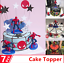 7-PCS-3D-Superhero-Spiderman-Cake-Topper-Cup-Cake-Decorations-Birthday thumbnail 1