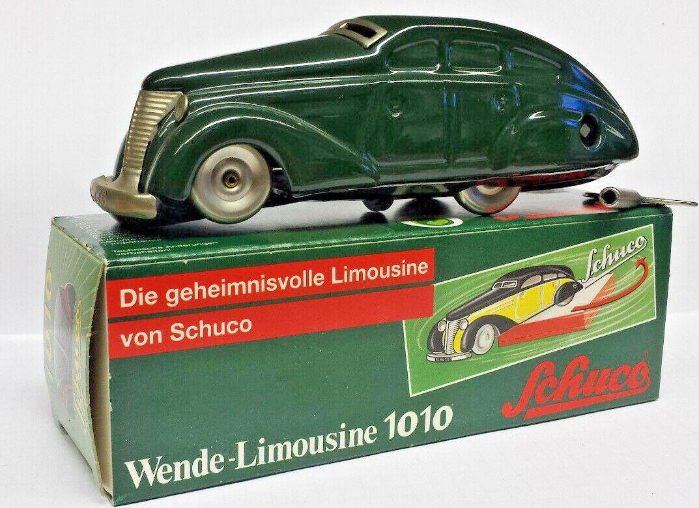 Schuco brevet tournant-Berline 1010 Vert Replica car Western Germany Box Key