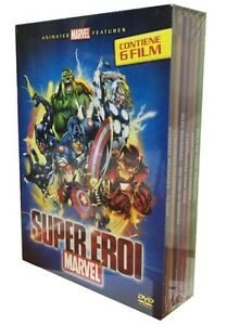 6-Dvd-Box-Cofanetto-ANIMATED-MARVEL-FEATURES-SUPER-EROI-SUPEREROI-Avengers