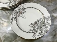 222 Fifth Hawthorne Gold Dinner Plates. 11 Inch. Fine China. Set Of 4. New.
