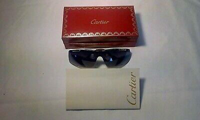 Avere Una Mente Inquisitrice Rari Occhiali Da Sole Cartier + Box + Cartier Cura/storia Ooklet + Sacchetto Regalo Cartier-mostra Il Titolo Originale