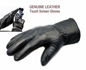 MENS-TOUCH-SCREEN-REAL-LEATHER-GLOVES-THERMAL-LINED-BLACK-DRIVING-WINTER-GIFT