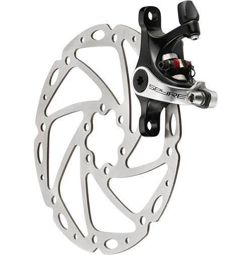 Trp Spyre mecánico 2 Pistón Road Bike Freno de disco con rojoor 160 mm
