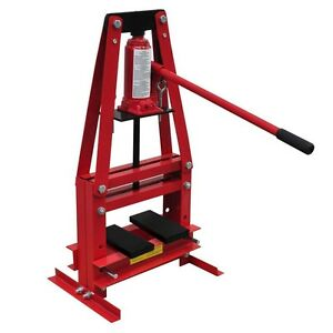 6 ton tonne heavy duty hydraulic bench press workshop garage floor shop press ebay Hydraulic bench press