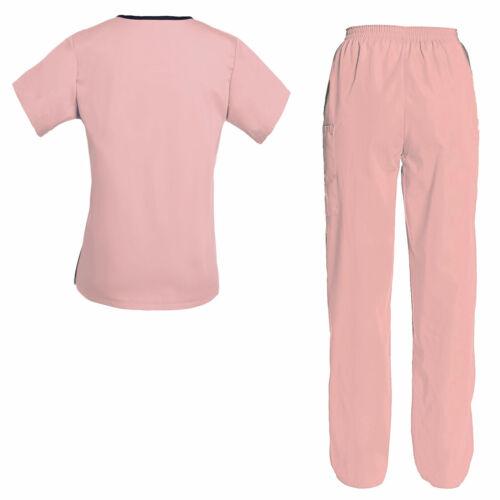 Women/'s Scrub Set Medical Nursing Uniform Set Top and Pants