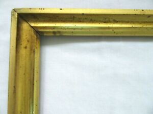 ANTIQUE-FITS-8-034-X-10-034-LEMON-GOLD-GILT-PICTURE-FRAME-WOOD-GESSO-FINE-ART-COUNTRY