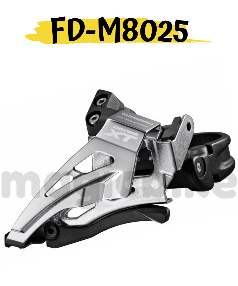 Shimano Deore XT FD-M8025-H 2 x 11-Speed 28.6//31.8//34.9mm Clamp Front Derailleur