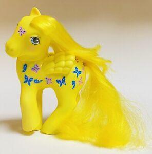 MLP My Little Pony G1 Twice As Fancy Vintage 1987 Yellow Butterfly Hasbro Used