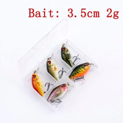 5pcs//lot Mini Crankbait 3cm 1.8g With Box Topwater 0.1-0.5m Wobbler Japan 5 Bait