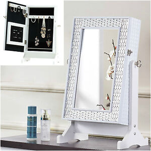 Elegant Image Is Loading Small Mirror Jewellery Cabinet Organiser Free Standing  Table