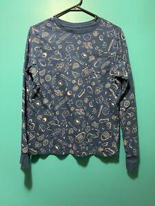 CAT-amp-JACK-Long-Sleeve-T-Shirt-Pocket-All-Over-Print-Jr-Sz-XL-AWESOME-Print