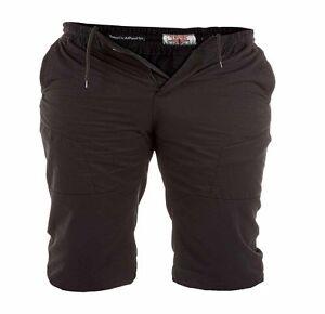 Nouveau-Hommes-Taille-Plus-Duke-Coton-Hautes-Short-3XL-4XL-5XL-6XL-Noir-Khaki