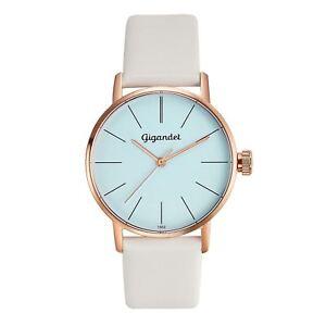 Gigandet-Damenuhr-Minimalism-Uhr-Armbanduhr-Leder-Rotgold-Weiss-G43-013