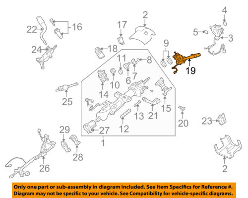 ESCALADE SUBURBAN TAHOE TURN SIGNAL SWITCH W//REAR WIPER 2007-2014 NEW  15849314