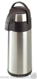Pumpkanne-Isolierkanne-5-Liter-Kaffeekanne-Edelstahlkanne-Thermoskanne-Kanne-Neu
