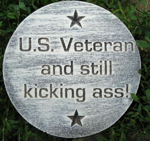 "Veteran concrete plaster plaque mold 7.75/"" x .75/"""