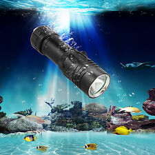 Waterproof 100M 5000Lm CREE XML T6 LED Scuba Diving Flashlight Torch Light 26650